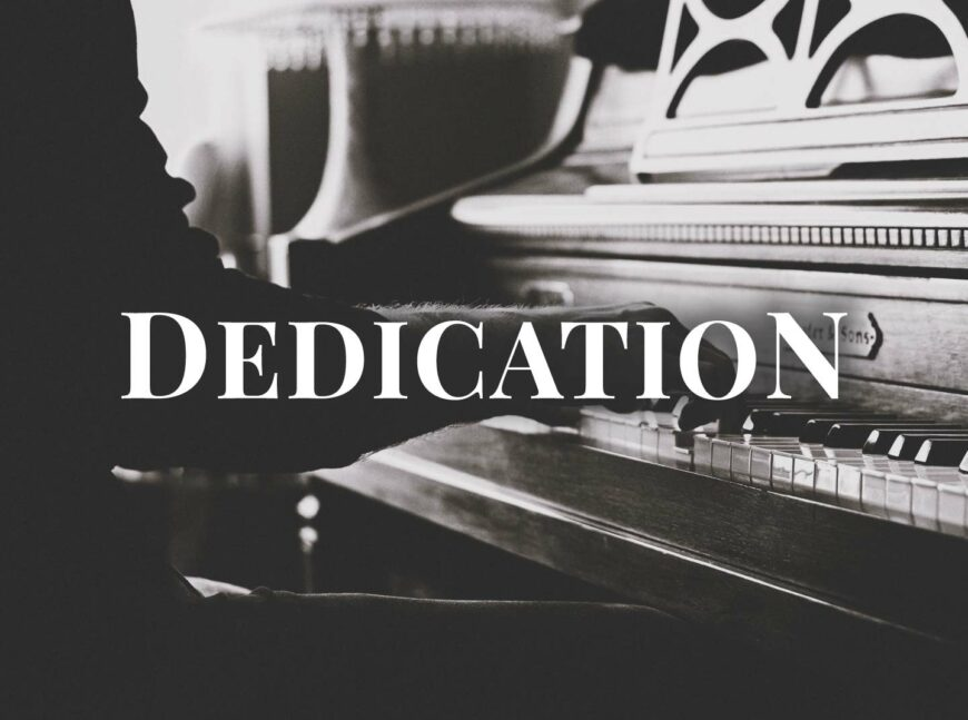 Dedication - Contemporary Piano